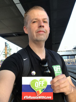 06:05 Uhr, Bern Wankdorf: Waiting for the train, a little tired but happy