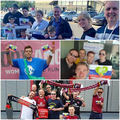 Support from Nottingham, Gelsenkirchen, Wabern (CH) und Nuremberg