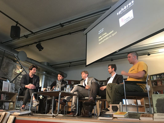 """Panel discussion on """"Homosexuality in sports"""" organized by Pink Cross during Zurich Pride Week"""
