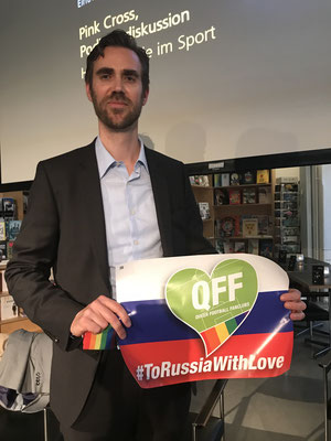 Also Claudius Schäfer, CEO of Swiss Football League, shows his solidarity with #ToRussiaWithLove