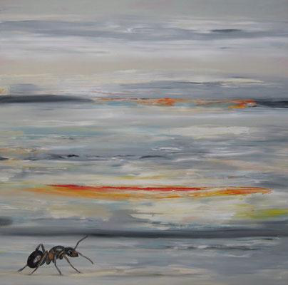 ~ Ameise ----- 80 x 80 cm  oil/canvas