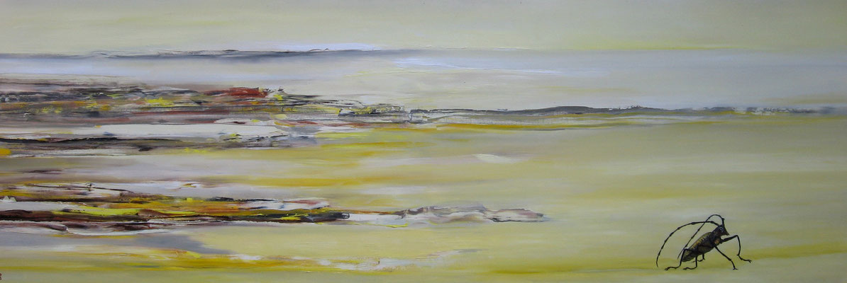 ~  Eichenbock-Landschaft  -----  50 x 150 cm