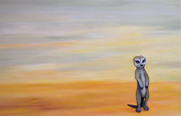 Suricata suricatta ~ meercat ~ Erdmännchen -----  40 x 60 cm  oil/canvas