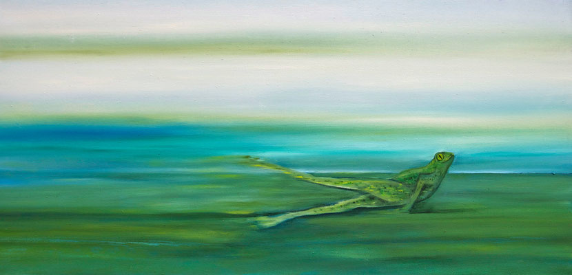 ~ Frog ~ Frosch ----- 40 x 60 cm oil/canvas