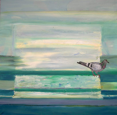Columbæ ~ pigeon ~ Taube ~ piccione ~ pigeon ~ paloma ~ голубь ~ 鴿子 ~ 鴿子 ~ حمامة ~ कबूतर ~ ijuba  -----  80 x 80 cm oil/canvas