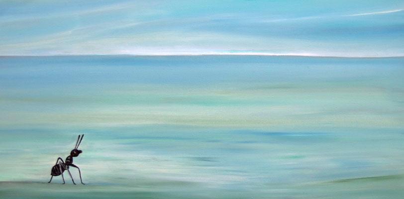 Ameise  -----  40 x 60 cm  oil/canvas