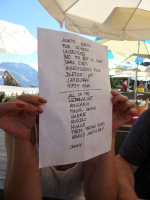 Almkonzert Huggenberg in Saalfelden am Steinernen Meer, Playlist Hot Club de Vienne, Harri Stojka beim Jazzfestival