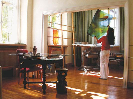 Atelierraum von Iris Henkenhaf-Stark im Werkhaus