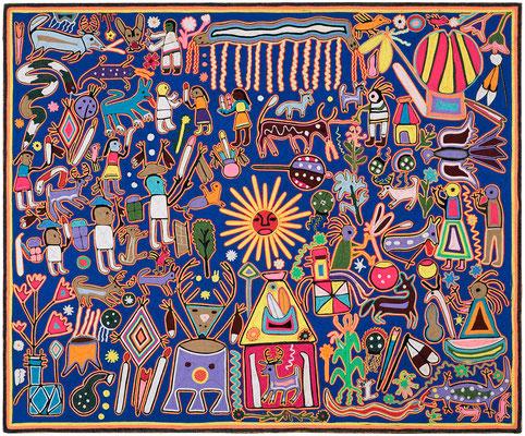 Tableau Huichol ( Musée de Marseille ) © jcLETT