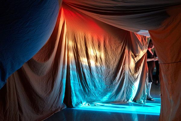 """Reto Pulfer  """"Les chambres des états"""" , MRAC LR © Jeanchristophe Lett"""