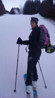 Jasmin bei unserer ersten Tour auf´s Dreiländereck...