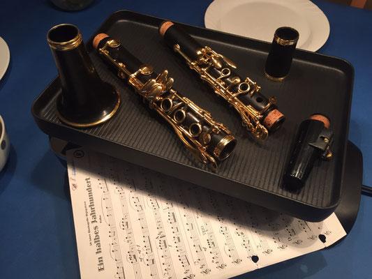 letzte Klarinettenregisterprobe bei Thomas Truog