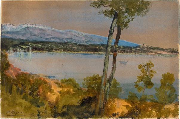 Горы видели за озером