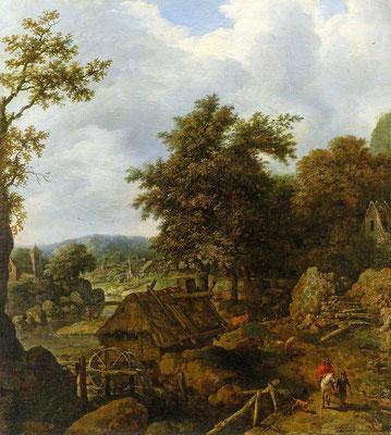 Шведский пейзаж с водяной мельницей