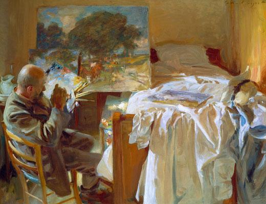 Художник в своей студии