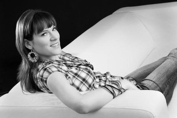 portrait auf couch