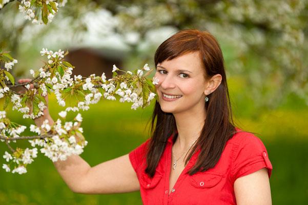 portrait zur kirschblüte in kalchreuth