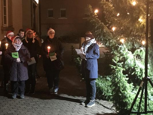 Stellv. OV Anja Feine begrüßt die Gäste