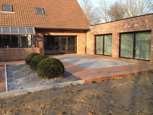 espace terrasse jardin les jardins de la scarpe paysagiste concepteur saint amand les. Black Bedroom Furniture Sets. Home Design Ideas