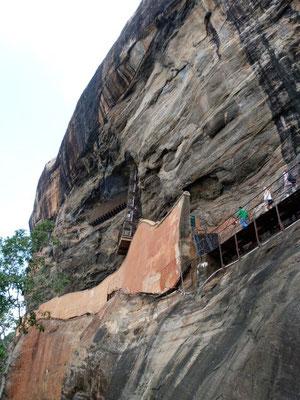 Aufstieg nach Sigiriya