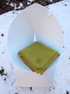 Original Flauschy - Fleecedecke für die Gastronomie und Biergarten in grün