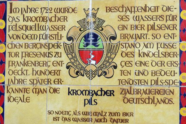 Information zu der Brauerei und dem guten Brauwasser