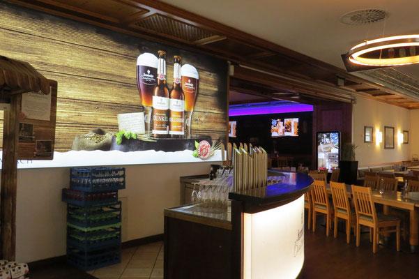 Zweiter Thekenraum in der Brauereigaststätte