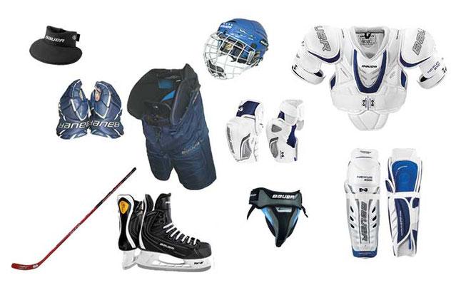 Eishockeyausrüstung heute
