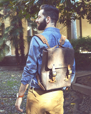 Margelisch leather Backpack Herodo in Barcelona
