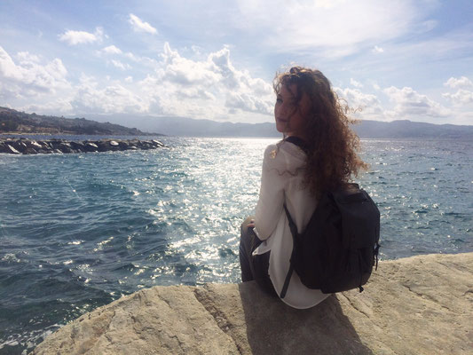 Margelisch leather backpack in Italy