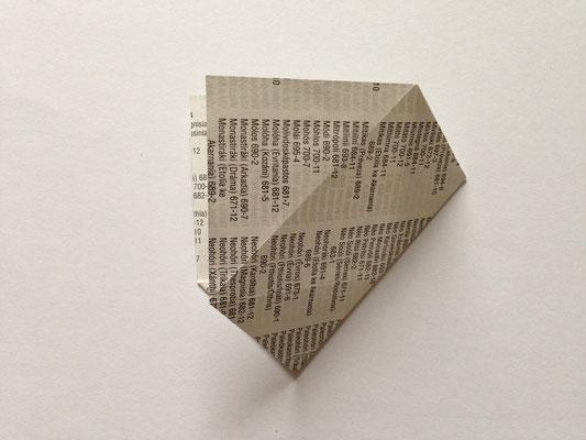 Diagonale nachfalten