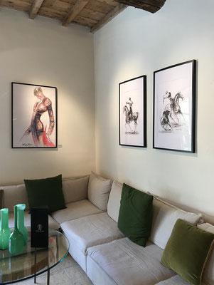 Les peintures d'Alfredo Alonso au Hameau des Baux