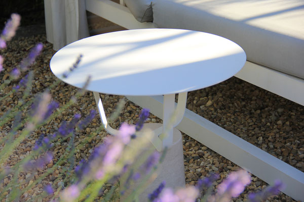Hansel Outdoor, la table basse du designer Pierre Dubourg pour Monolithe édition