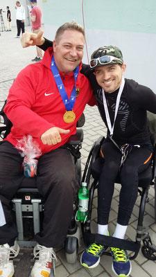 Daniel ( Paralympicssieger in Rio ( Kugelstoßen) und ich