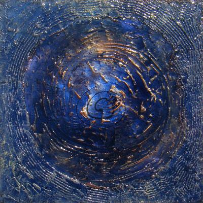 """Jean Yves PETILLON      """"Cosmos 1""""    Technique mixte  100 x 100"""