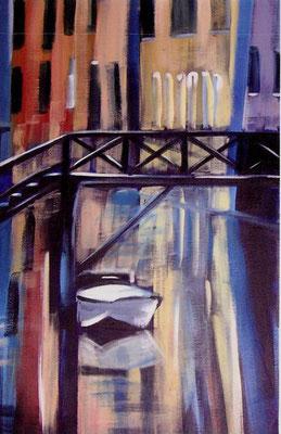 """Dominique Marsan               """"Reflets""""         Acrylique sur toile     92x60"""