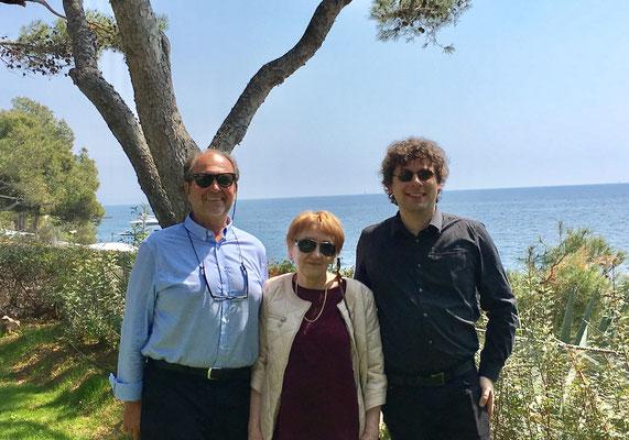 von links Eckehard Ficht, Prof. Irina Enenko, Prof.Marek Szlezer Bendinat 2017