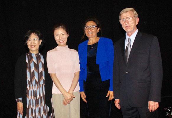 Professoren(von links) Sun Kyung Lee, Chunghwa Hur, Bożena Ficht-Maciejowska, Adam Wodnicki