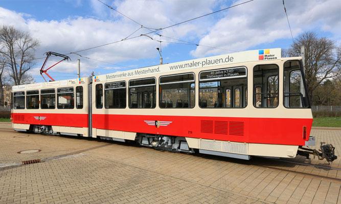 Straßenbahn, 40 Jahre KT4D in Plauen