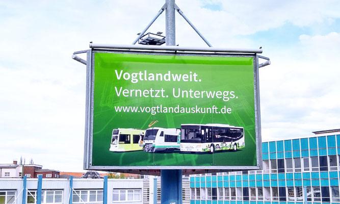 Werbetafel Vogtlandauskunft – Plauen