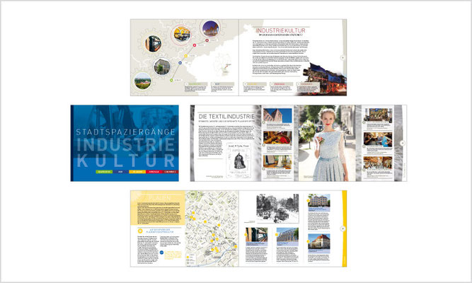 Broschüre Stadtspaziergänge Industriekultur