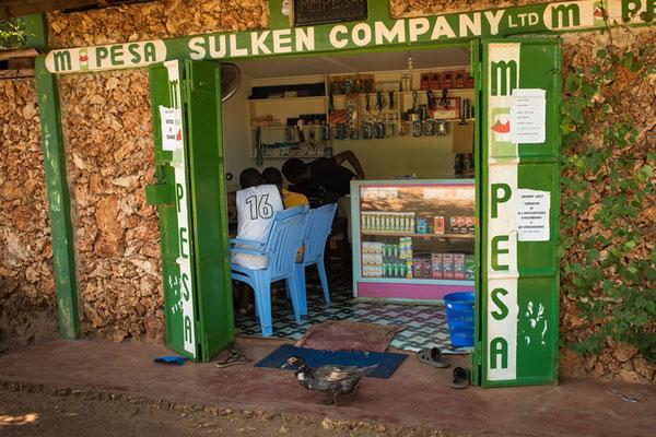 Zahlungsstelle M-Pesa mit Internetbüro