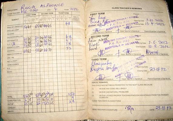 Zeugnis in Msumarini/Kenya