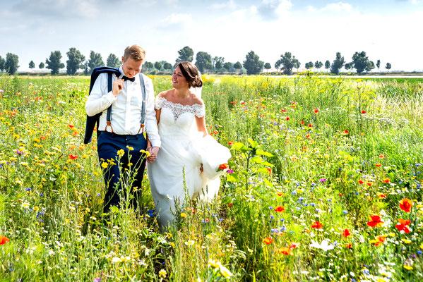 Huwelijksfoto in Strijen