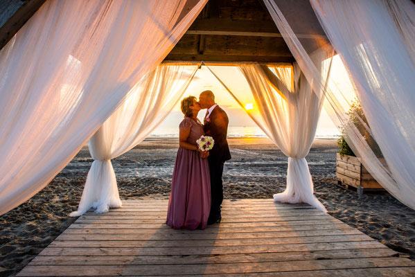 huwelijk met zonsondergang