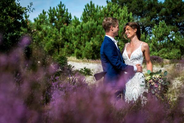 huwelijksfoto in heide