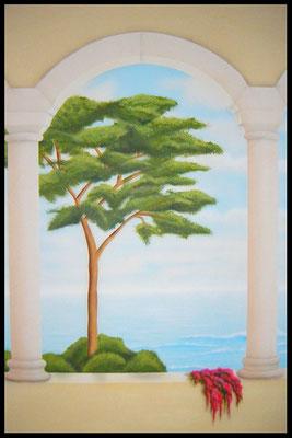 Wandmalerei auf MDF Holzplatte (Mischtechnik)