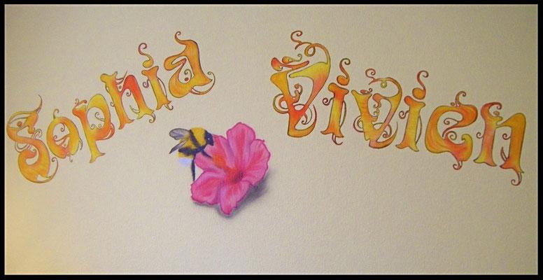 Wandmalerei in Kinderzimmer
