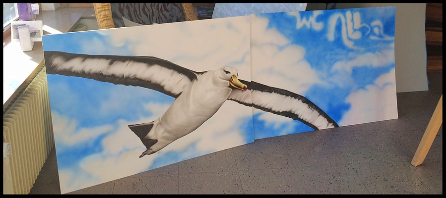 Airbrushkarton, Größe ca. 240cm x 90cm