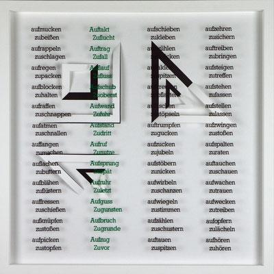 IV / X, Projekt mit franz mon, 2021, 50 x 50 cm, rückseitige Signatur franz mon + Jürgen Wolff